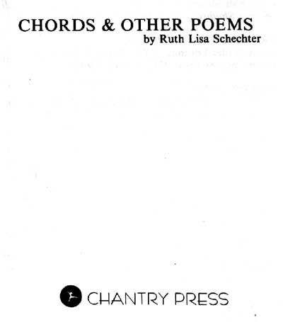 Ruth Lisa Schechter : Chords & Other Poems